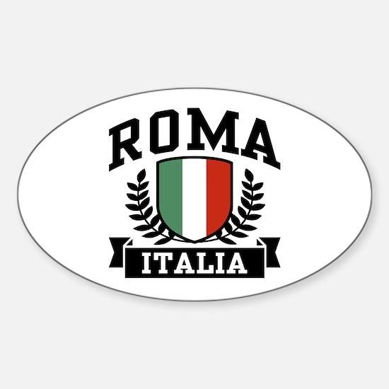 Roma Italia Oval Decal