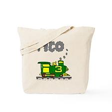 Tico 3 Green & Yellow Train Tote Bag