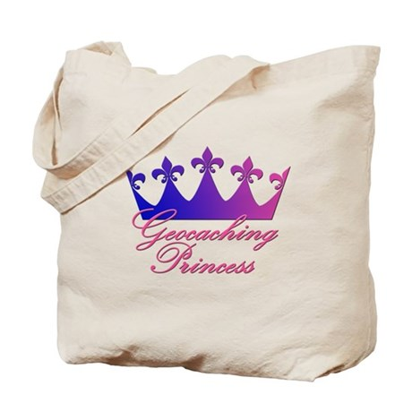 Geocaching Princess - Blue & Tote Bag