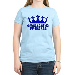 Geocaching Princess - Blue T-Shirt