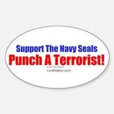 Support The Navy Seals! Oval Decal