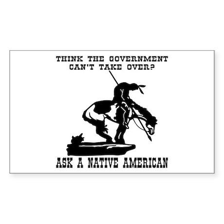 Ask A Native American Rectangle Sticker