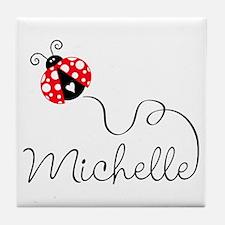 Ladybug Michelle Tile Coaster