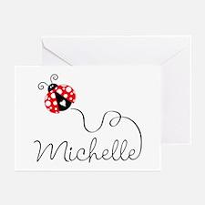 Ladybug Michelle Greeting Cards (Pk of 20)