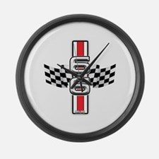 Racer Red Large Wall Clock