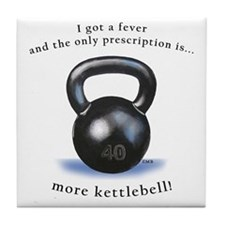 Prescription for Kettlebell Tile Coaster