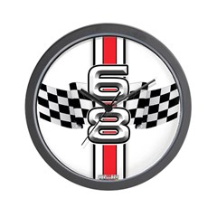 68 Racer Red Wall Clock