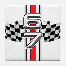 67 Racer Red Tile Coaster