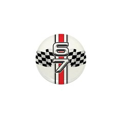 67 Racer Red Mini Button (10 pack)