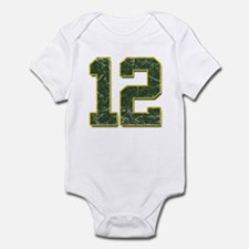 12 Aaron Rodgers Packer Marbl Infant Bodysuit