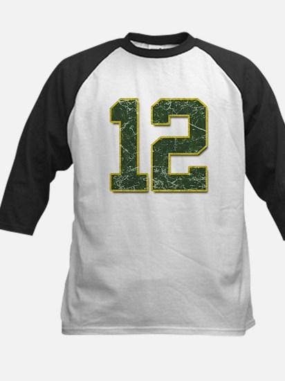 12 Aaron Rodgers Packer Marbl Kids Baseball Jersey