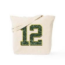 12 Aaron Rodgers Packer Marbl Tote Bag