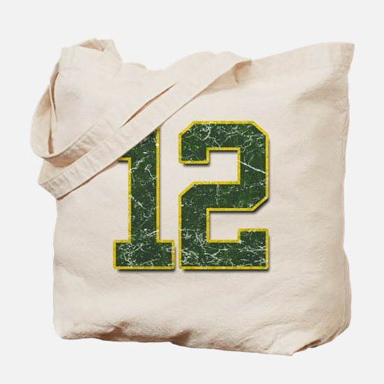 12 Aaron Rodgers Packer Marbl Tote Bag