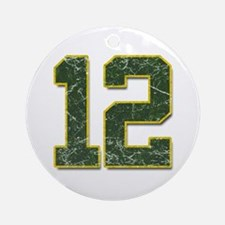 12 Aaron Rodgers Packer Marbl Ornament (Round)