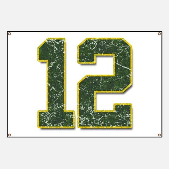 12 Aaron Rodgers Packer Marbl Banner