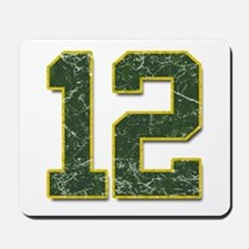 12 Aaron Rodgers Packer Marbl Mousepad