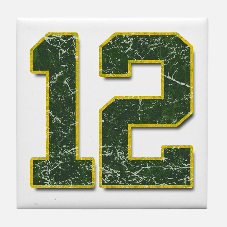 12 Aaron Rodgers Packer Marbl Tile Coaster