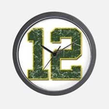 12 Aaron Rodgers Packer Marbl Wall Clock