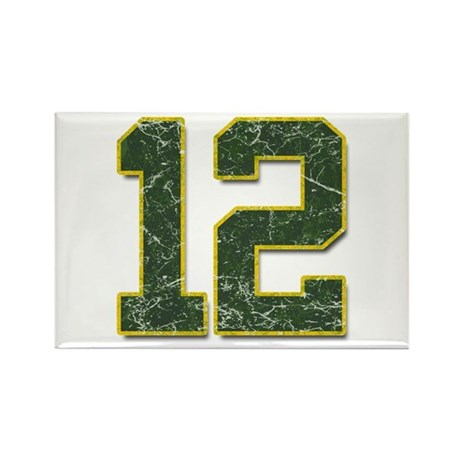 12 Aaron Rodgers Packer Marbl Rectangle Magnet (10