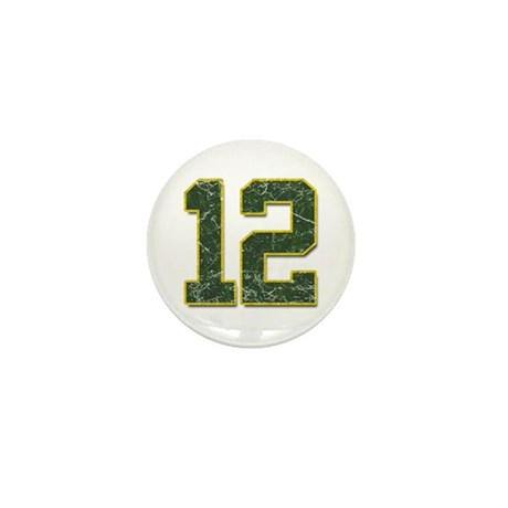 12 Aaron Rodgers Packer Marbl Mini Button