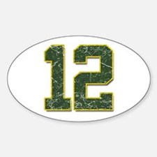 12 Aaron Rodgers Packer Marbl Oval Decal
