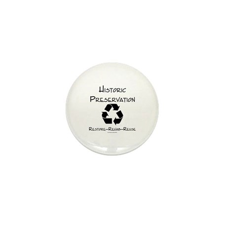 Preservation is Recycling Mini Button (100 pack)