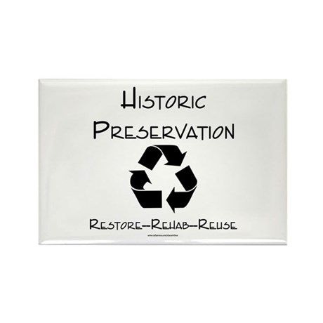Preservation is Recycling Rectangle Magnet (100 pa