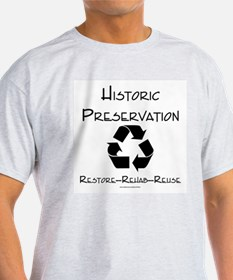 Preservation is Recycling Ash Grey T-Shirt