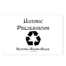 Preservation is Recycling Postcards (Package of 8)