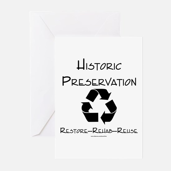 Preservation is Recycling Greeting Cards (Package