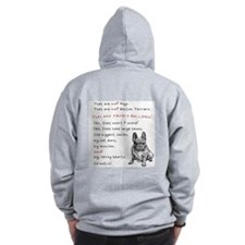 THEY are not Pugs (Serious Frenchie) Zip Hoodie
