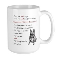 THEY are not Pugs (Serious Frenchie) Mug