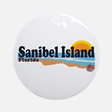 Sanibel Island FL - Beach Design Ornament (Round)