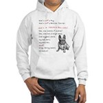 SHE'S not a Pug! (Serious) Hooded Sweatshirt