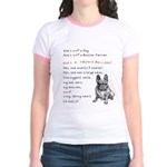 SHE'S not a Pug! (Serious) Jr. Ringer T-Shirt