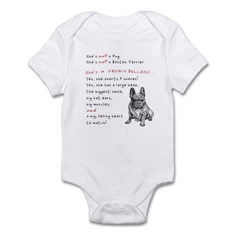 SHE'S not a Pug! (Serious) Infant Bodysuit