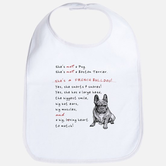 SHE'S not a Pug! (Serious) Bib