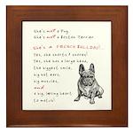SHE'S not a Pug! (Serious) Framed Tile
