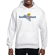 Sanibel Island FL - Map Design Hoodie