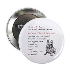 """SHE'S not a Pug! (Smiling) 2.25"""" Button"""