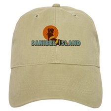 Sanibel Island FL - Sunbathing Design Baseball Cap