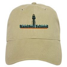 Sanibel Island FL - Lighthouse Design Baseball Cap