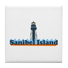 Sanibel Island FL - Lighthouse Design Tile Coaster