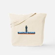 Sanibel Island FL - Lighthouse Design Tote Bag