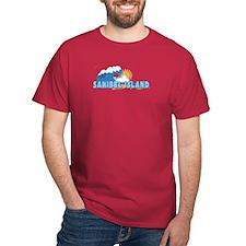 Sanibel Island FL - Waves Design T-Shirt