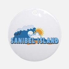 Sanibel Island FL - Waves Design Ornament (Round)