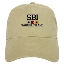 Sanibel Island FL - Nautical Design Baseball Cap