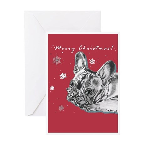 Frenchie Christmas Greeting Card