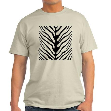 Zebra Stripe Motif Light T-Shirt