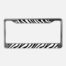 Zebra Stripe Motif License Plate Frame
